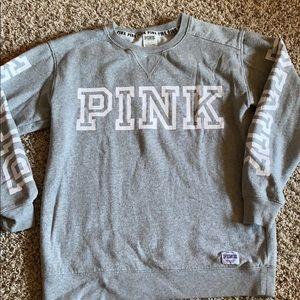 Gray PINK crew neck Sweatshirt